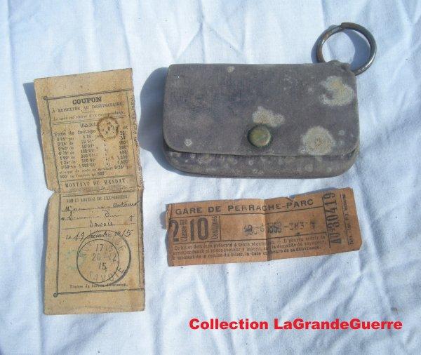Porte monnaie d'un soldat Français