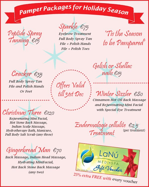 Lanumedispa 39 s articles tagged christmas offers lanu for Beauty salon xmas offers