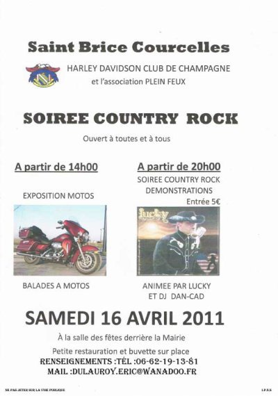 Saint Brice Courcelles , Soirée Country Rock