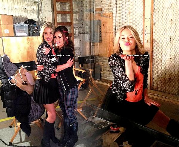 sasha sur le tournage de la saison 3 de pretty little