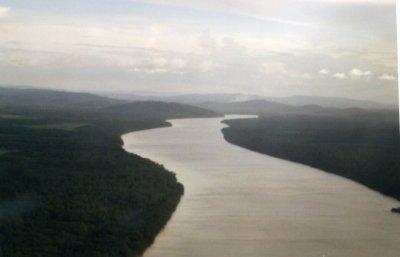 Le fleuve Cayenne vu du ciel