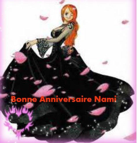 aujourd'hui anniversaire de Nami