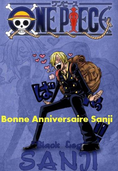 aujourd'hui anniversaire de Sanji