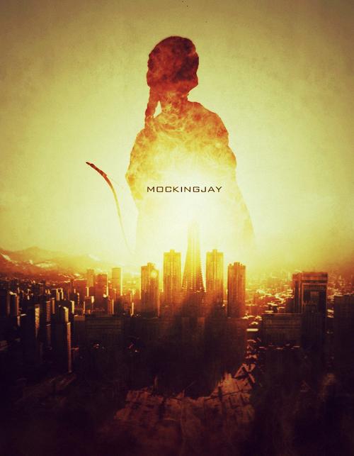 """Hunger Games: La Révolte """"Le feu se propage! [...] Et si nous brûlons, vous brûlerez avec nous!"""" Katniss à Snow"""