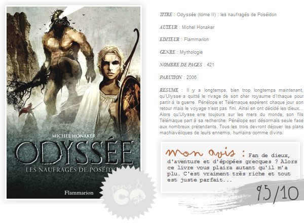 . Odyssée ( tome II )    , de Michel Honaker .