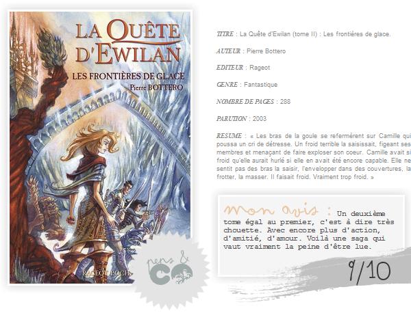 . La Quête d'Ewilan (tome II)    , de Pierre Bottero .
