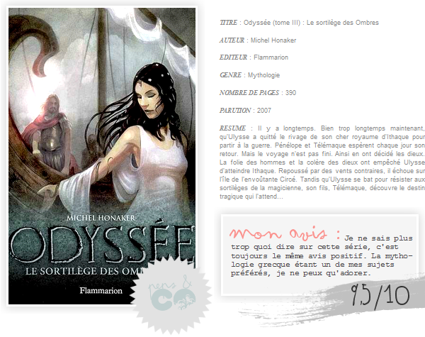 . Odyssée ( tome III )    , de Michel Honaker .