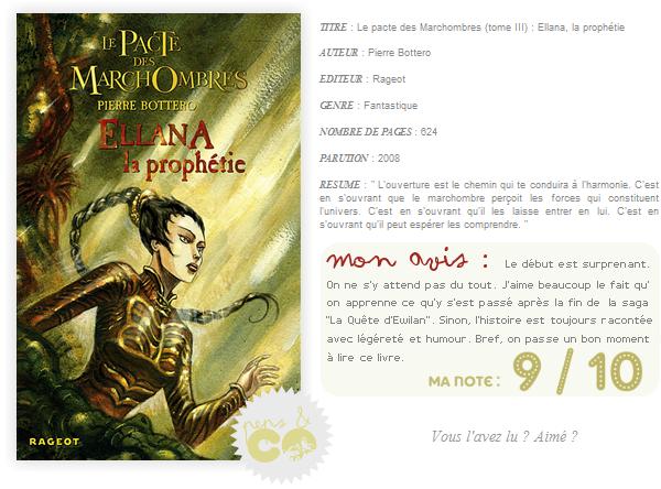 . Le Pacte des Marchombres (tome III), de Pierre Bottero .