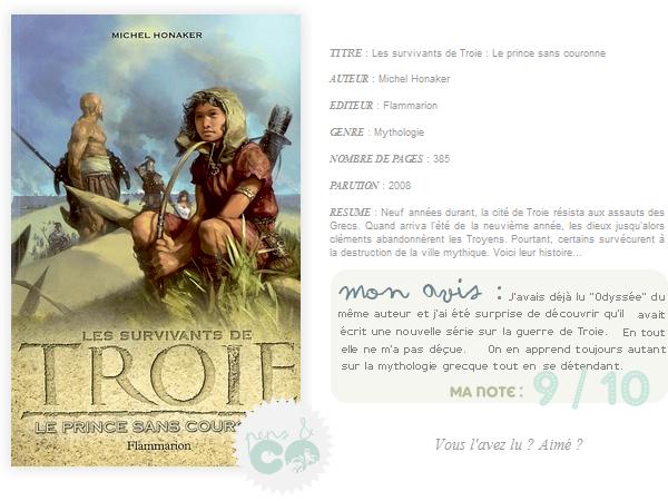 . Les survivants de Troie (tome I), de Michel Honaker .