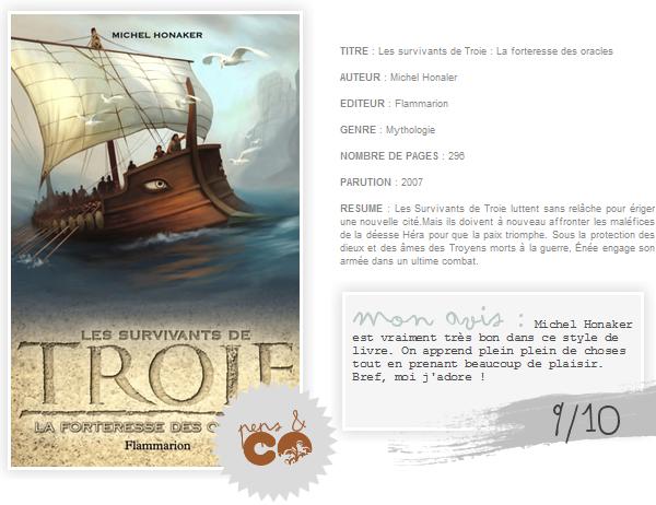 . Les survivants de Troie (tome II), de Michel Honaker .