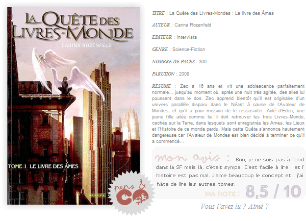 . La Quête de Livres-Monde (tome I), de Michel Honaker .