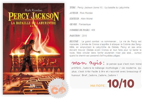 . Percy Jackson (tome IV), de Rick Riordan .