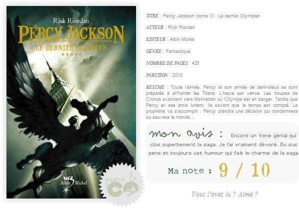. Percy Jackson (tome V), Rick Riordan .