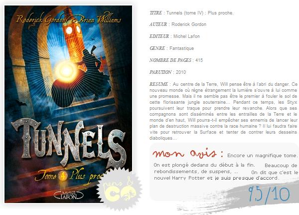 . Tunnels (tome IV) , de Roderick Gordon .