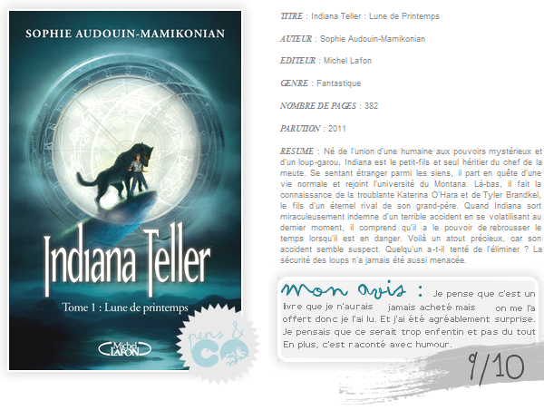 . Indiana Teller (tome I), de Sophie Andouin-Mamikonian .