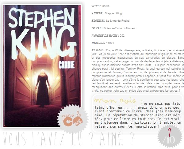 . Carrie, de Stephen King .