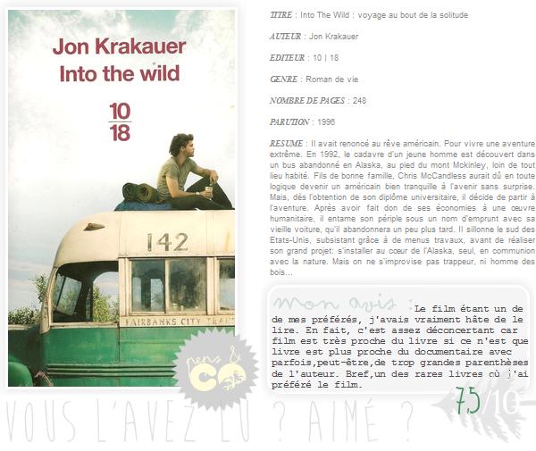 . Into The Wild, de Jon Krakauer .