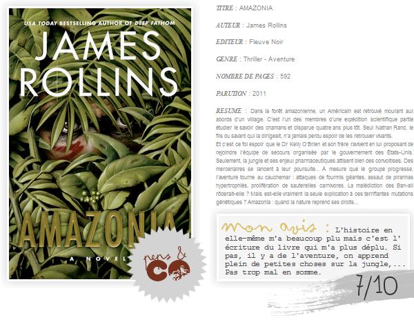 . AMAZONIA, de James Rollins .