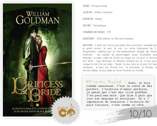 . Princess Bride, de William Goldman .