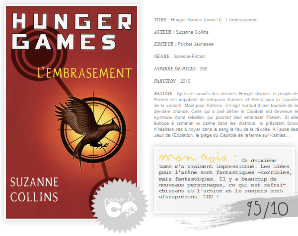 . Hunger Games (tome II), de Suzanne Collins .