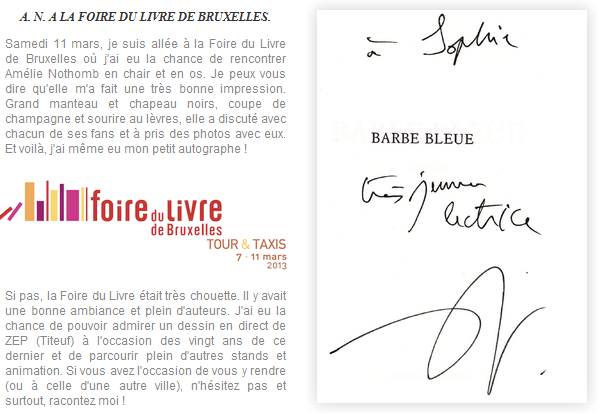 . Barbe-Bleue, de Amélie Nothomb .