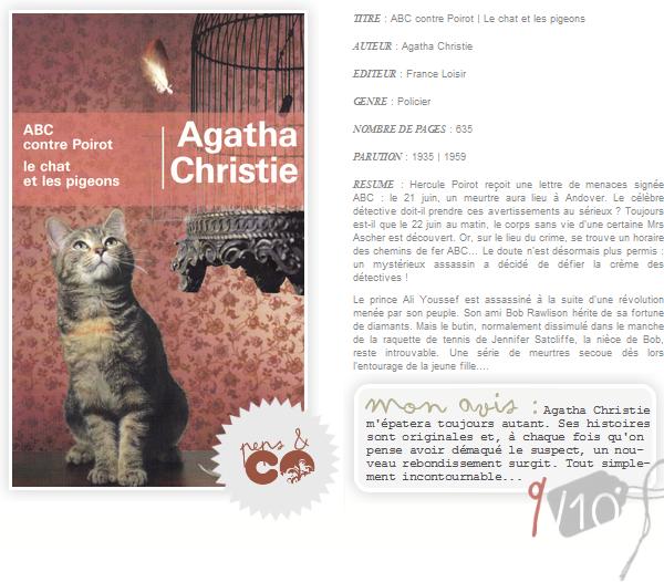 . ABC contre Poirot | Le chat et pigeons, de Agatha Christie .