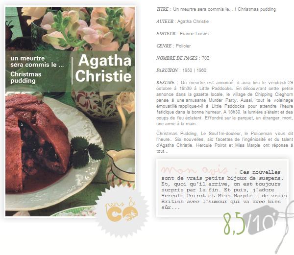 . Un meurtre sera commis le... | Christmas Pudding, de Agatha Christie .