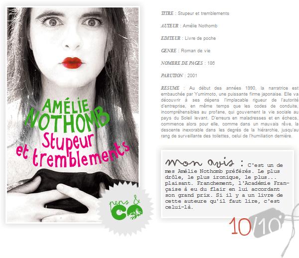 . Stupeur et tremblements, de Amélie Nothomb .