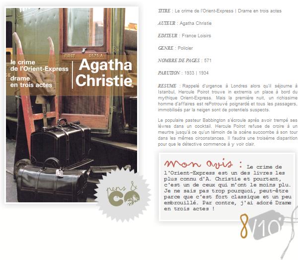 . Le crime de l'Orient-Express | Drame en trois actes, de Agatha Christie .