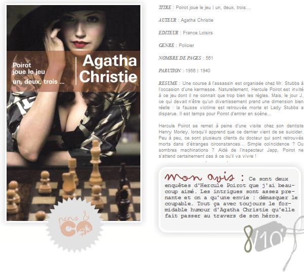 . Poirot joue le jeu | un, deux, trois..., de Agatha Christie .