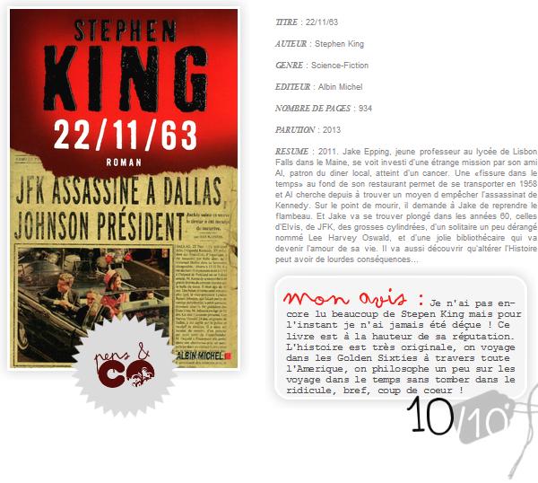 . 22/11/63, de Stephen King .