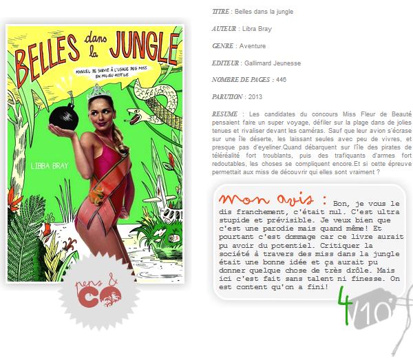 . Belles dans la jungle, de Libra Bray .