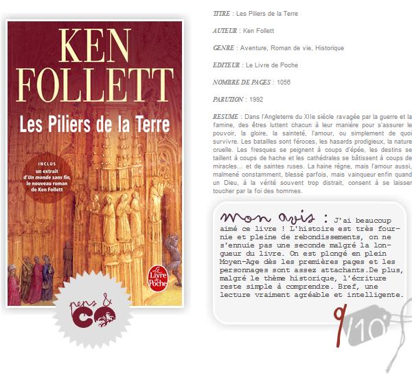 . Les Piliers de la Terre, de Ken Follett .
