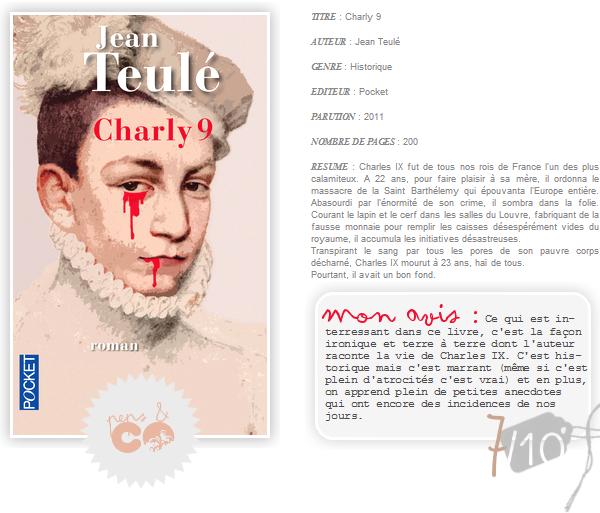 . Charly 9, de Jean Teulé .