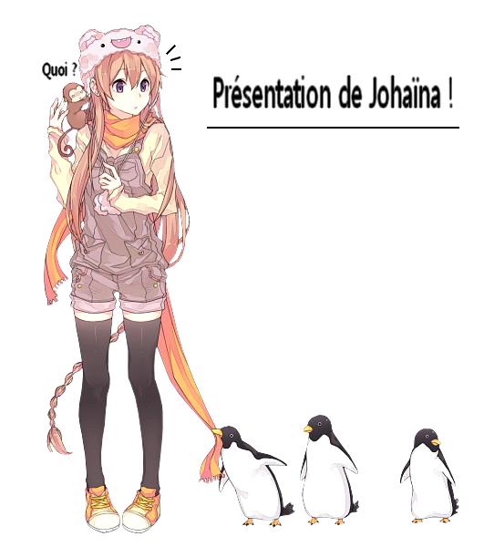 Bien c'est l'heure des présentations des deux personnages principaux ! Ici x-NatsXLucy-x et voici Johaïna bon la suite dans l'article ! ♥