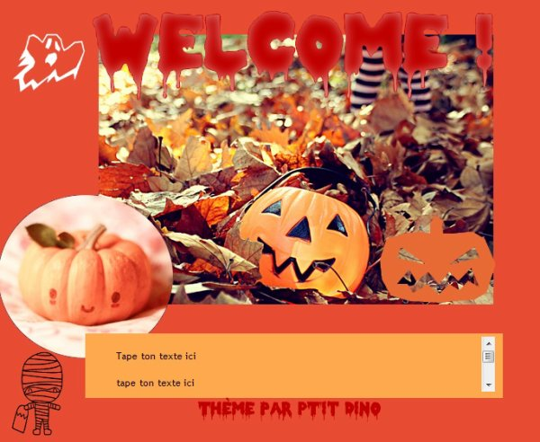 Thème 52 - Halloween.