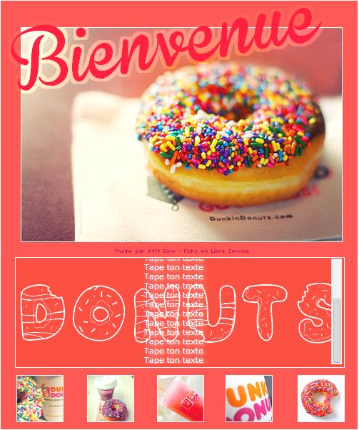 Thème 79 - Donuts