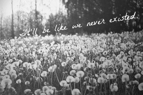 Like it never exist...