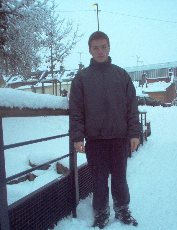 moi sur la neige