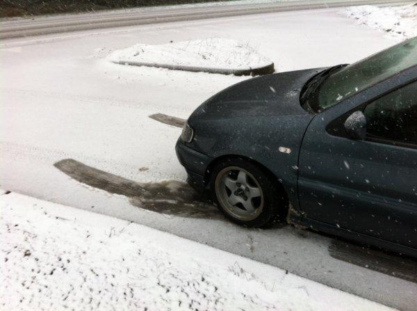 neige plus pneu lisse = plus savoir monter mdr