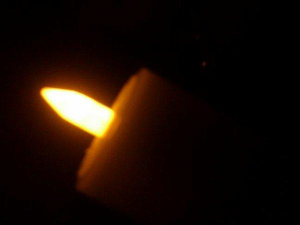 La lumière,bougie