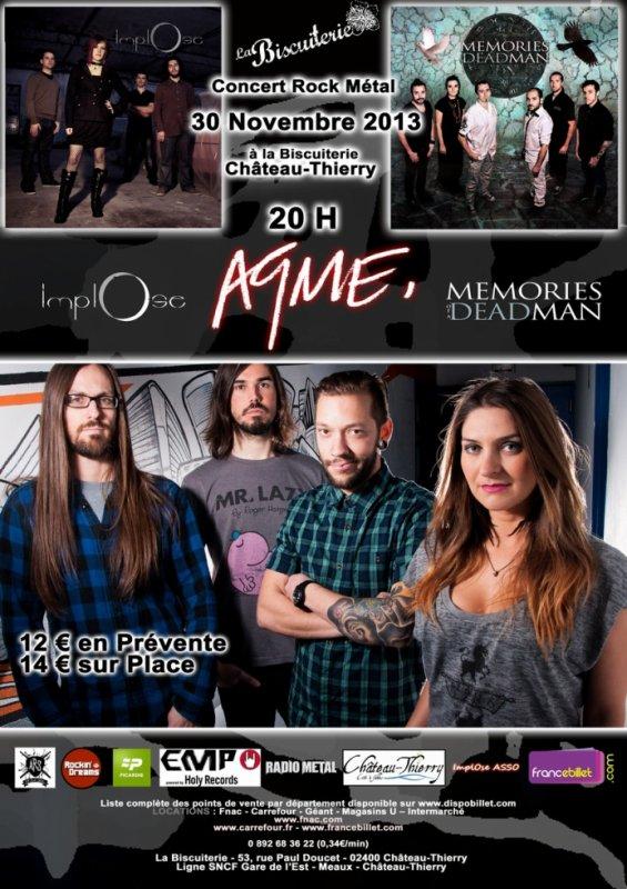 Mon Groupe en concert avec AQME le 30 Novembre