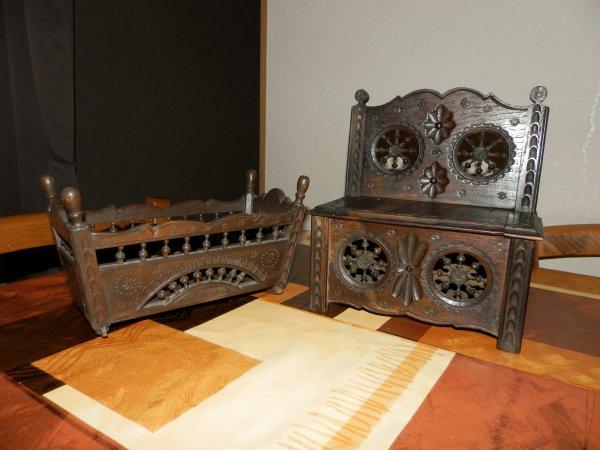♥ Ƹ̵̡Ӝ̵̨̄Ʒ ●  meuble breton ♥ Ƹ̵̡Ӝ̵̨̄Ʒ  les deux lit le banc  50e