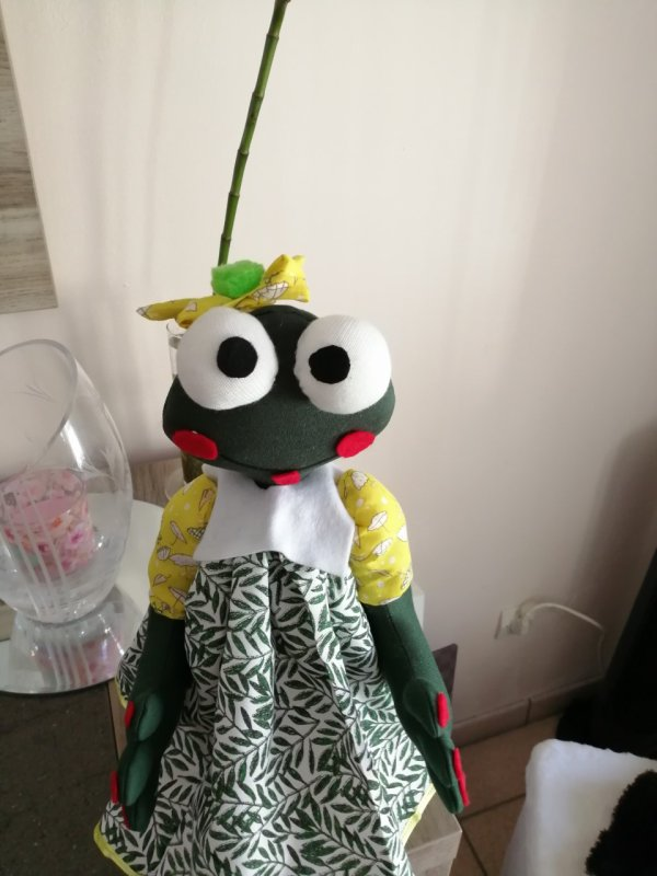 ma grenouille 40 cm assise