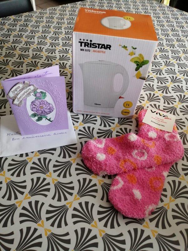quelques cadeaux pour mon anniversaire