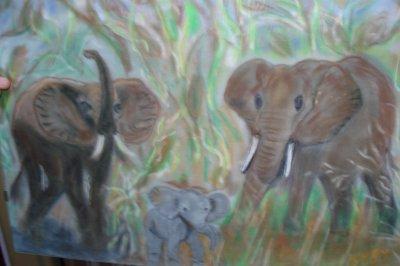 ELEPHANTS au pastel