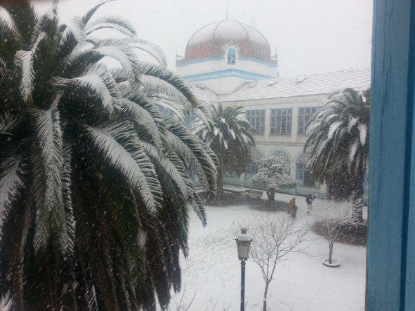 aujourd'hui elle neige chez nous