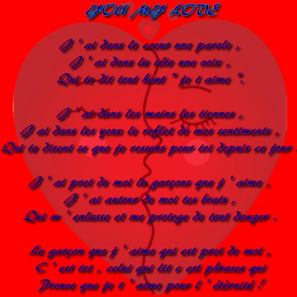 Nouveau Poeme Pour L Homme Que J Aime Byfolleaimebyfou