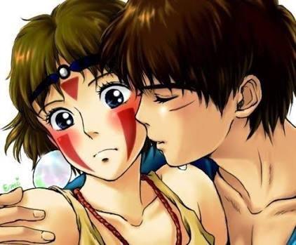 Ashitaka et San.