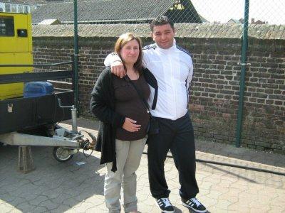mon petit mari et moi quand j'etais enceinte de manoah